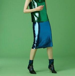 DVF Midi Pencil Skirt Sequin